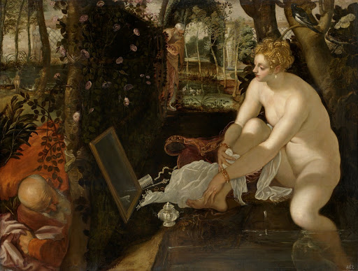 Tintoretto: Susannah and the Elders. From The Museum of Fine Arts Houston Cloaked in Magnificent Opulence