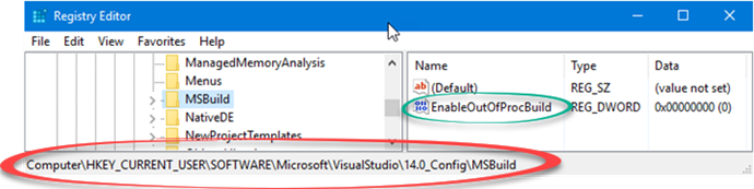 Registry entry to enable out of proc build in Visual Studio (www.kunal-chowdhury.com)
