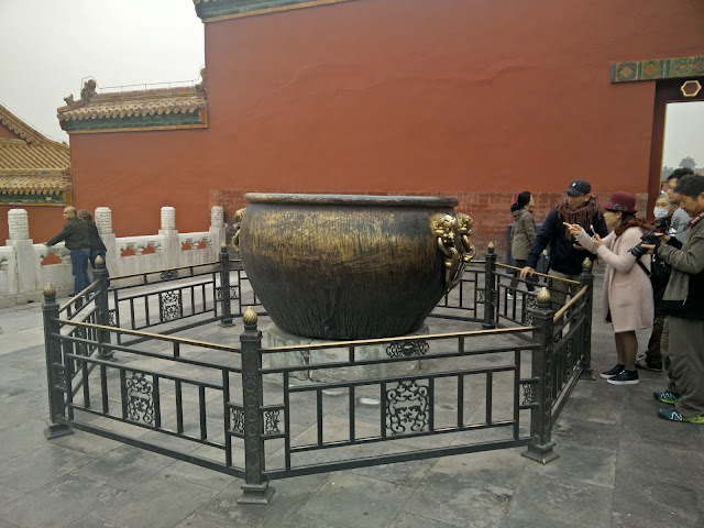 Bronze cauldrons Forbidden City Beijing China