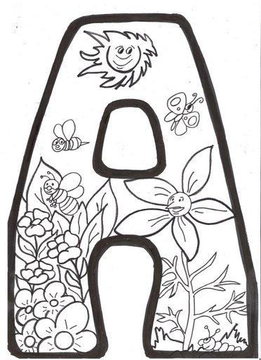 Dibujos Para Colorear Con Letras. Dibujo Para Pintar De La Letra G ...