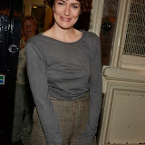 WWW.ENTSIMAGES.COM -    Anna Chancellor leaving     Noël Coward's Private Lives at Gielgud Theatre London August 6th 2013                                             Photo Mobis Photos/OIC 0203 174 1069