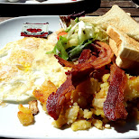 brunch time at KOS in Toronto in Scarborough, Ontario, Canada