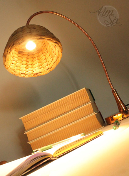Basket to desk lamp shade