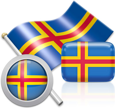 Aland-Island  flag icons pictures collection