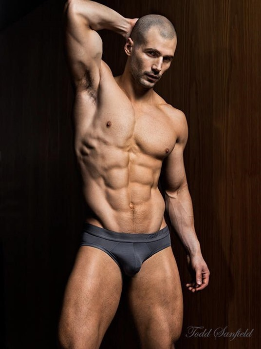 Todd Sanfield in Black Briefs