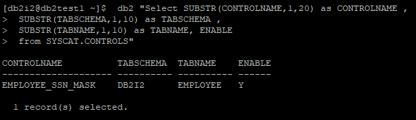 Check Existing Column Control on Table