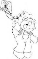 risco do ursinho com pipa