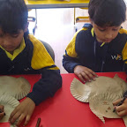 Paper Plate Owl Activity: Sr.KG. (15-12-2014)
