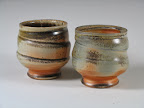 Two casually thrown tea bowls