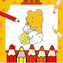 Fun Honey Bear Coloring icon