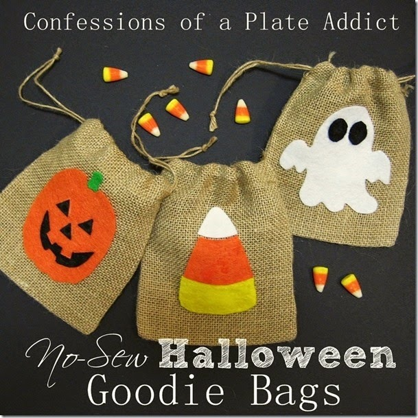 CONFESSIONS OF A PLATE ADDICT No-Sew Halloween Goodie Bags