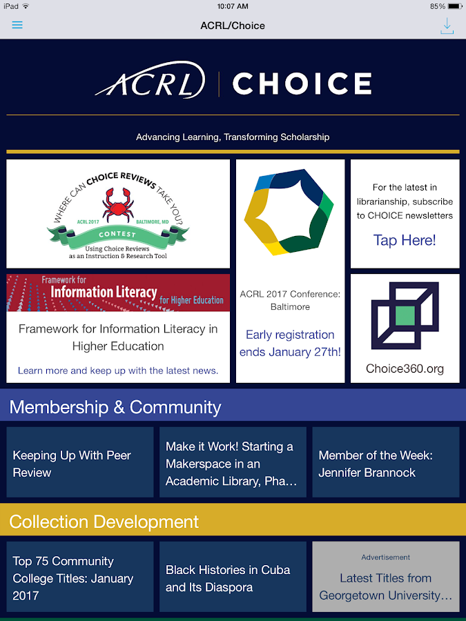ACRL-Choice- screenshot