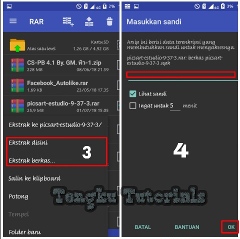 Cara mengganti password rar