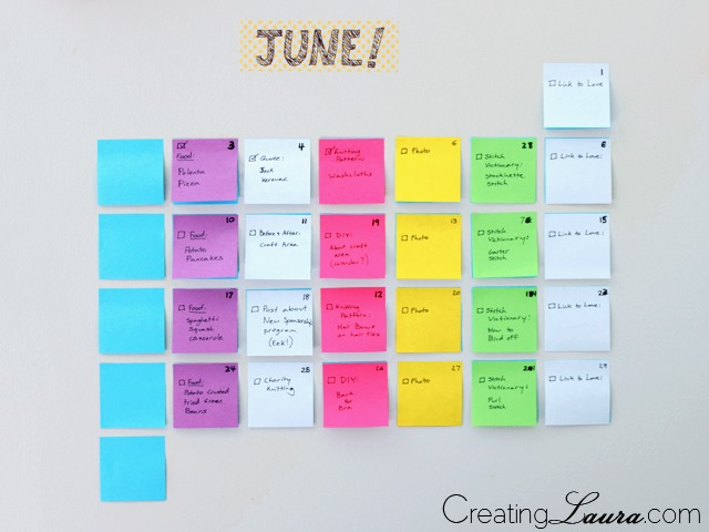 DIY-sticky-note-calendar