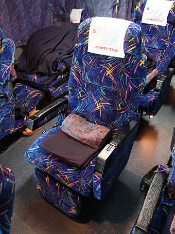 近鉄バス「国虎号」 2302 シート