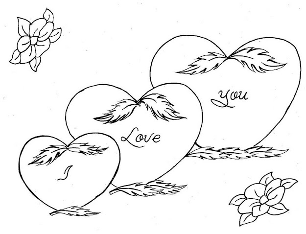 Love You Coloring Pages