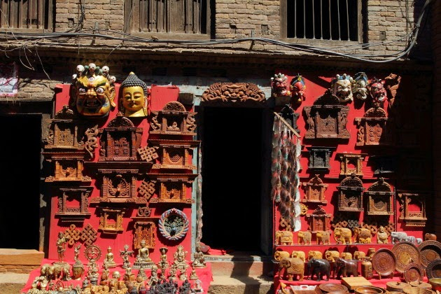 Souvenir shop at Bhaktapur Heritage Site, Nepal