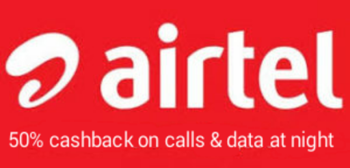 Airtel is offering an amazing offer to its customers where you will get back 50% data back consumed in night between 12 am to 6 am for all its Prepaid users.