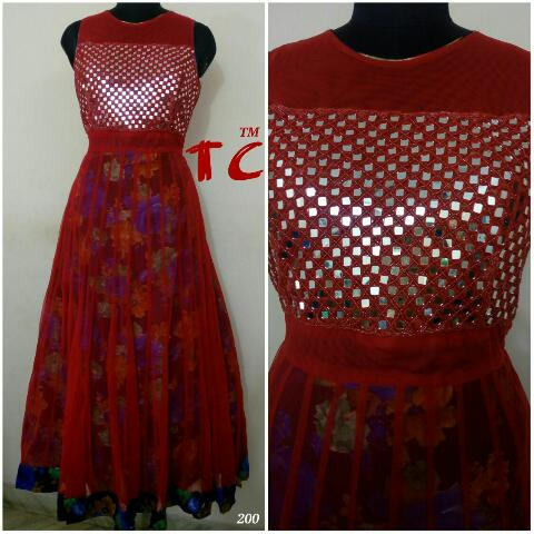 Bhagalpuri and Net Gown @ Rs. 2300 | Koyal Fashions Kurtis and Gowns
