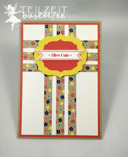 Stampin' Up! - In{k}spire_me #250, Sketch Challenge, Bitty Banners, Famose Fähnchen, Framelits Labels Collection, DP Muster für dich, DSP Affectionately Yours