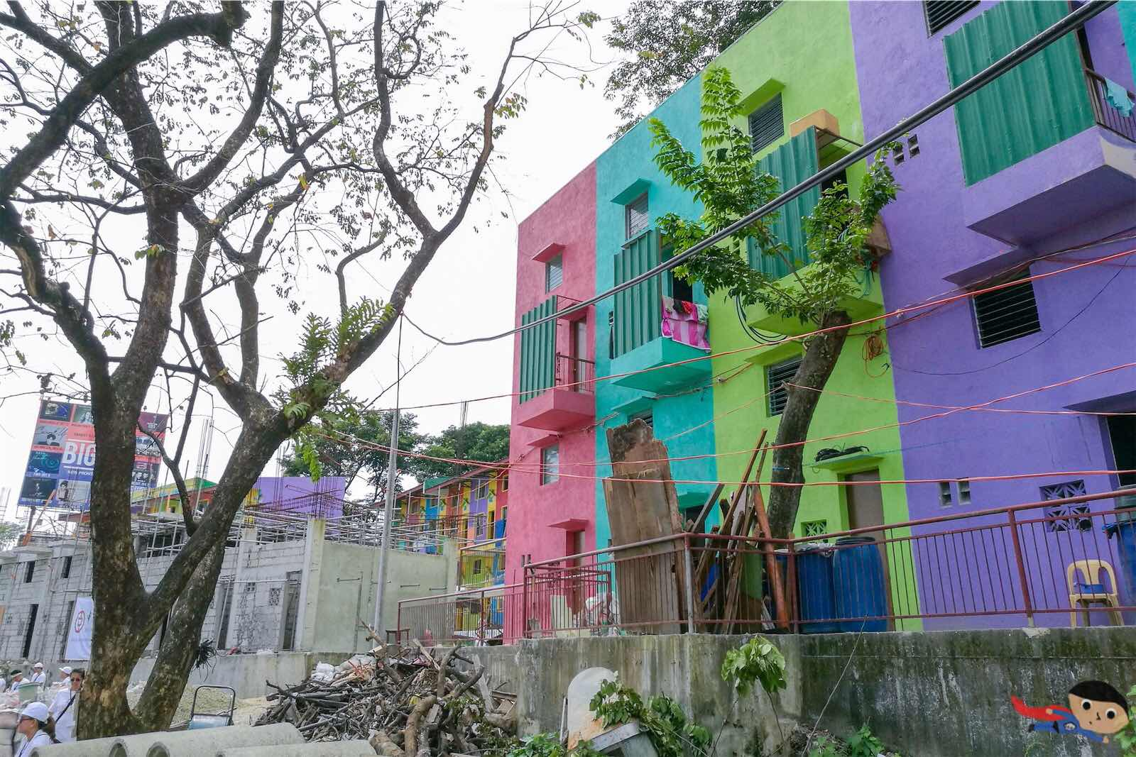 Colorful homes in Gawad Kalinga Community in Quezon City