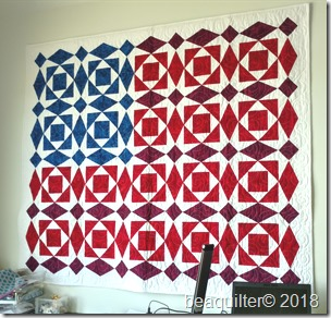 american flag quilt with accuquilt qube set
