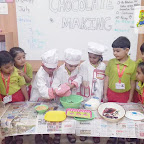 Chocolate Making Activity by Sr.Kg. Section at Witty World, Chikoowadi (2018-19)