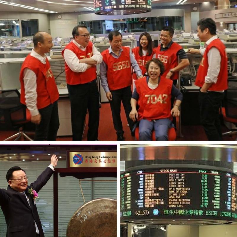 hong kong stock exchange celebrating 126th years of trading