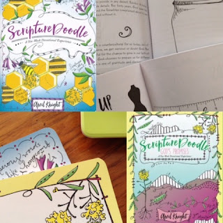 ScriptureDoodle and ScriptureDoodle God's Promises by April Knight ~ source: tammycookblogsbooks