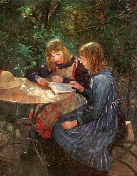 Fritz von Uhde - The Daughters of the artist