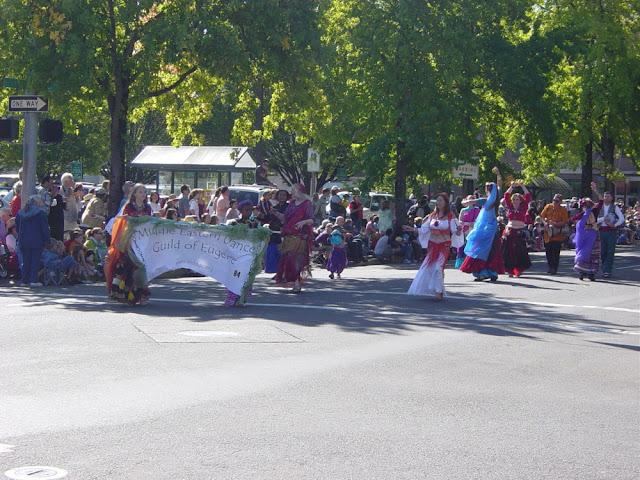 MEDGE entry in the Eugene Celebration Parade, 2007.  Runners up in best costume!