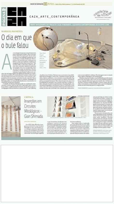 Página da Caza - 01 de Fevereiro de 2013
