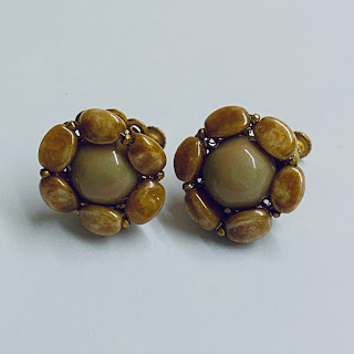 Miriam Haskell Vintage Costume Earrings