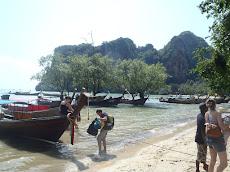 Disembarking onto shore