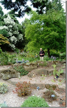 14a Dave in rock garden