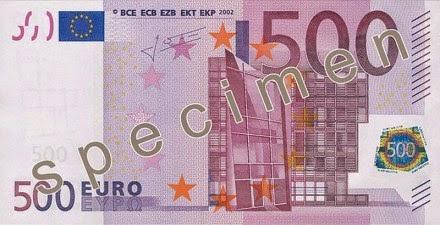 gambar uang kertas 500 euro