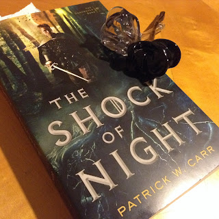 The Artist Librarian reviews The Shock of Night by Patrick W. Carr, a thrilling mystery set in a medieval fantasy world.