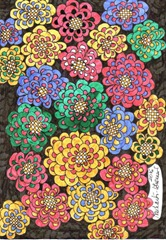 535 Zentangle Flowers