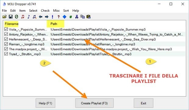 Come creare e condividere una playlist m3u da file mp3 for Come costruire un programma online casa gratuitamente