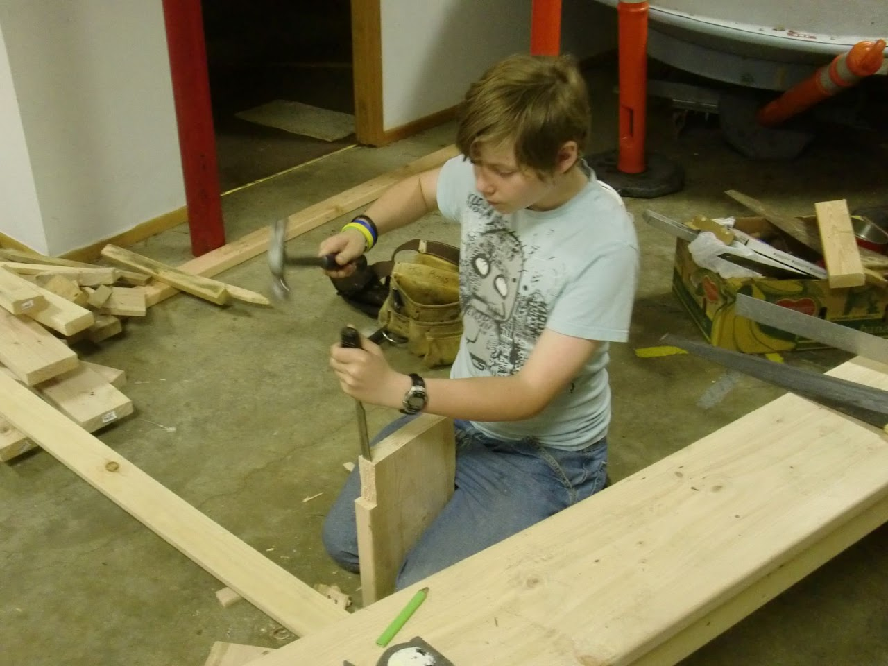 Carpentry Merit Badge Sessions - CIMG1148.JPG