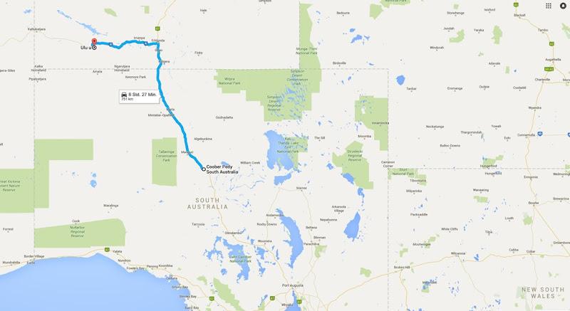 z25 von Coober Pedy nach Uluru