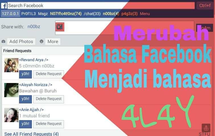 facebook bahasa alay