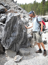 My brother, Arlo, at Obsidian Dome.