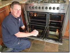 Gary P cleaning an oven