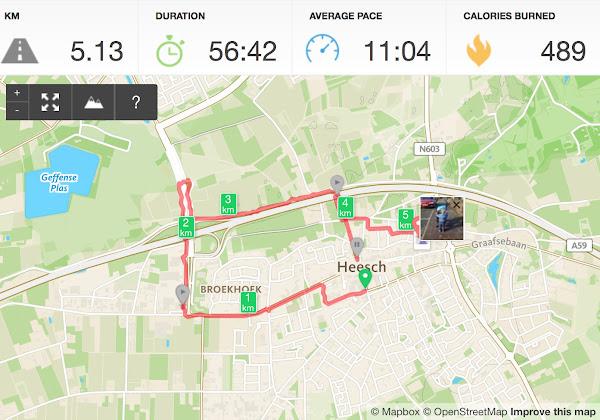 Runkeeper Wandeling