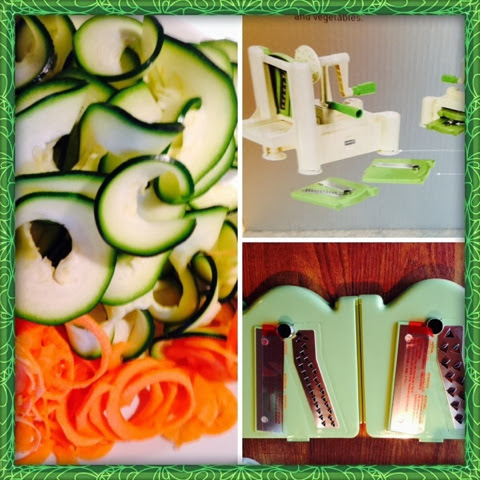 Himmelblå Lærke Lykke: Min nye Spirali (grøntsager spagetti maskine)