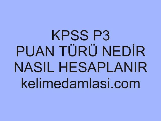 kpss p3 puan türü