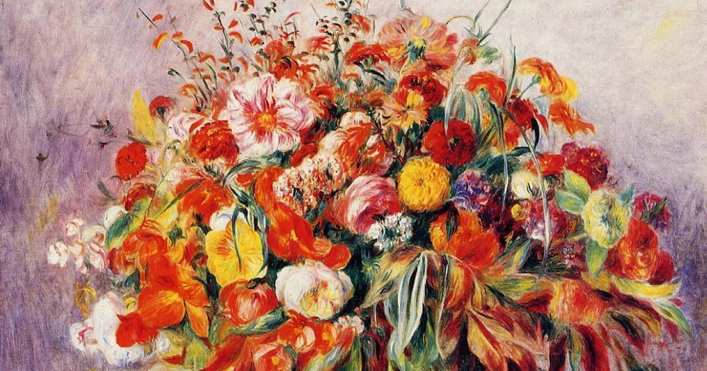 Testclod bouquet de fleurs pierre auguste renoir for Bouquet de fleurs 5