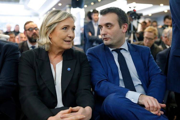 Le Pen and Florian Philippot in 2017. Picture: GETTY IMAGES