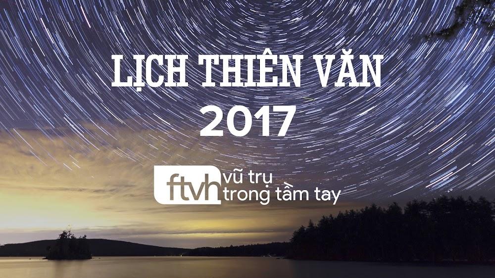 Lịch thiên văn năm 2017.
